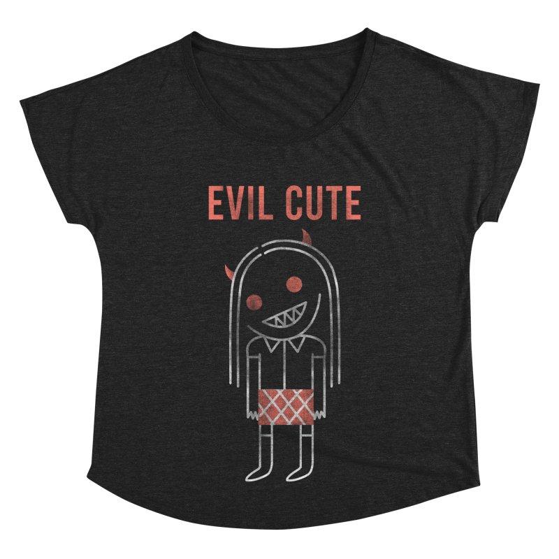 Evil Cute Women's Scoop Neck by Daniel Stevens's Artist Shop