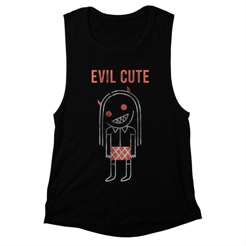 Evil Cute Women's Muscle Tank by Daniel Stevens's Artist Shop
