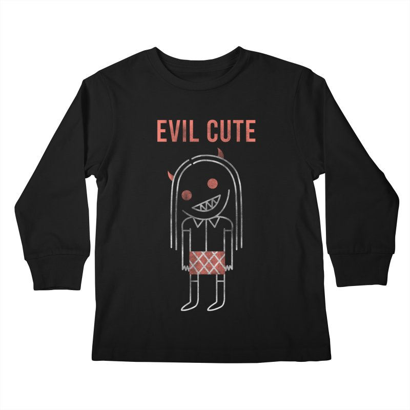 Evil Cute Kids Longsleeve T-Shirt by Daniel Stevens's Artist Shop