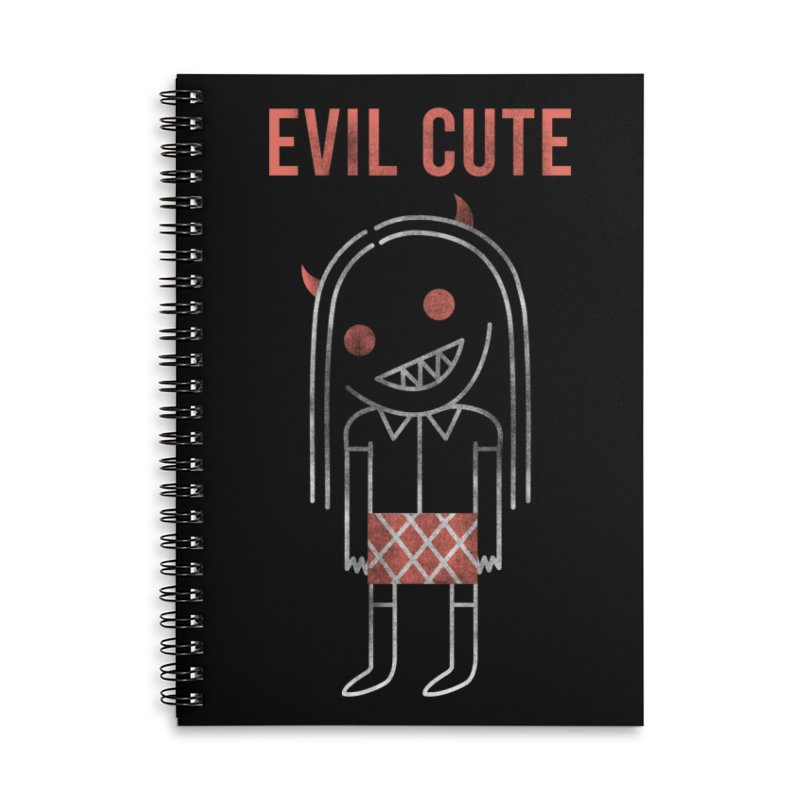 Evil Cute Accessories Lined Spiral Notebook by Daniel Stevens's Artist Shop