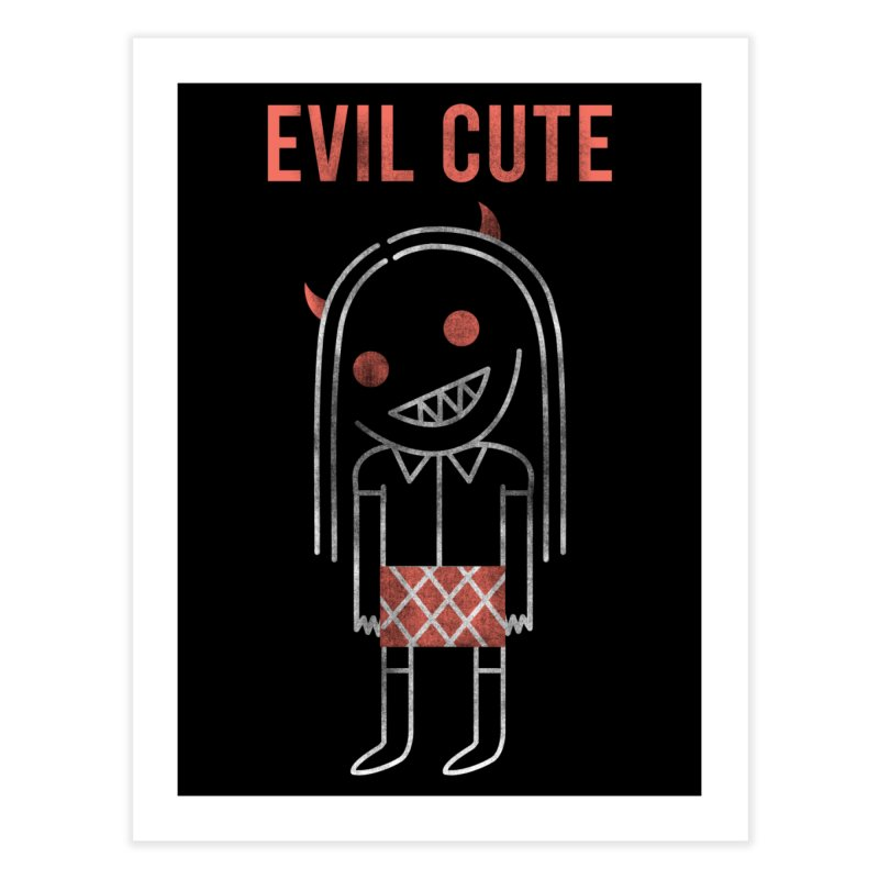 Evil Cute Home Fine Art Print by Daniel Stevens's Artist Shop