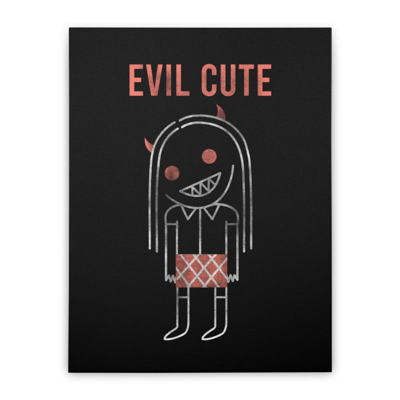 Evil Cute Home Stretched Canvas by Daniel Stevens's Artist Shop