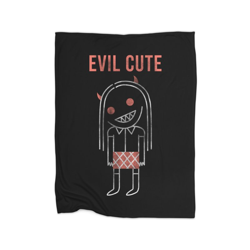 Evil Cute Home Blanket by Daniel Stevens's Artist Shop