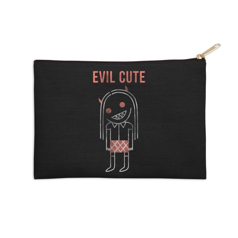 Evil Cute Accessories Zip Pouch by Daniel Stevens's Artist Shop
