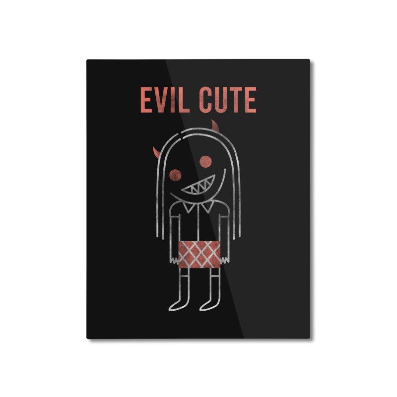 Evil Cute Home Mounted Aluminum Print by Daniel Stevens's Artist Shop