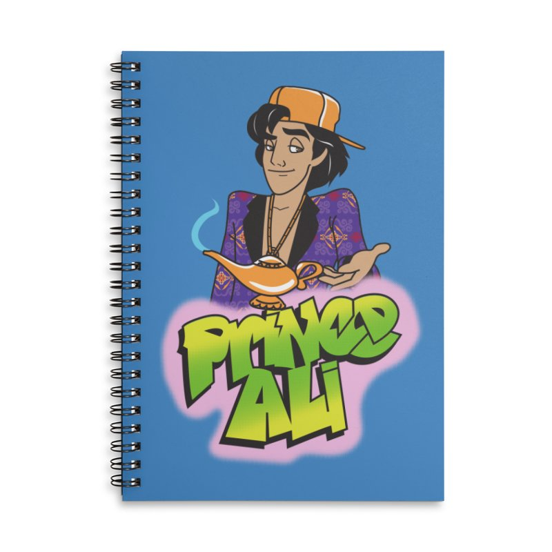 Prince Ali Accessories Lined Spiral Notebook by Daniel Stevens's Artist Shop