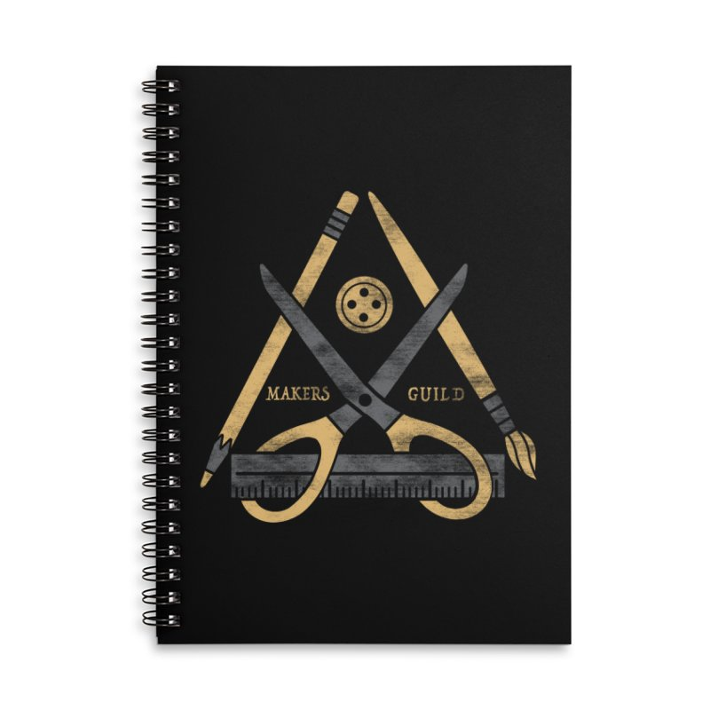Makers Guild Accessories Lined Spiral Notebook by Daniel Stevens's Artist Shop