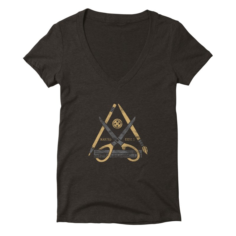 Makers Guild Women's Deep V-Neck V-Neck by Daniel Stevens's Artist Shop