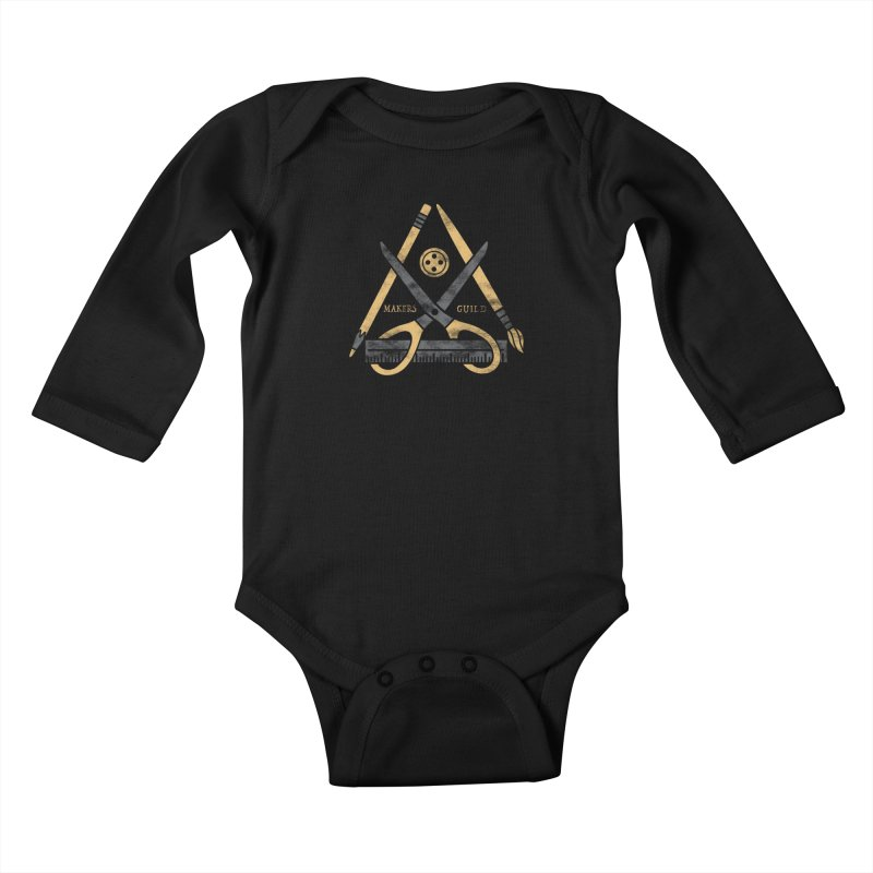 Makers Guild Kids Baby Longsleeve Bodysuit by Daniel Stevens's Artist Shop