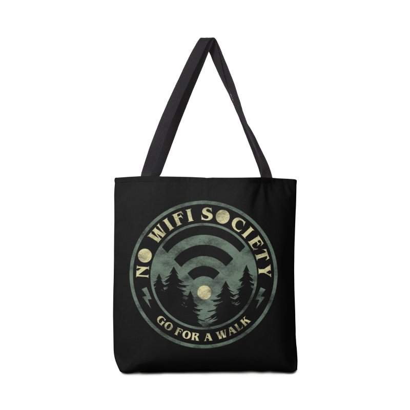 No Wifi Society Accessories Tote Bag Bag by Daniel Stevens's Artist Shop