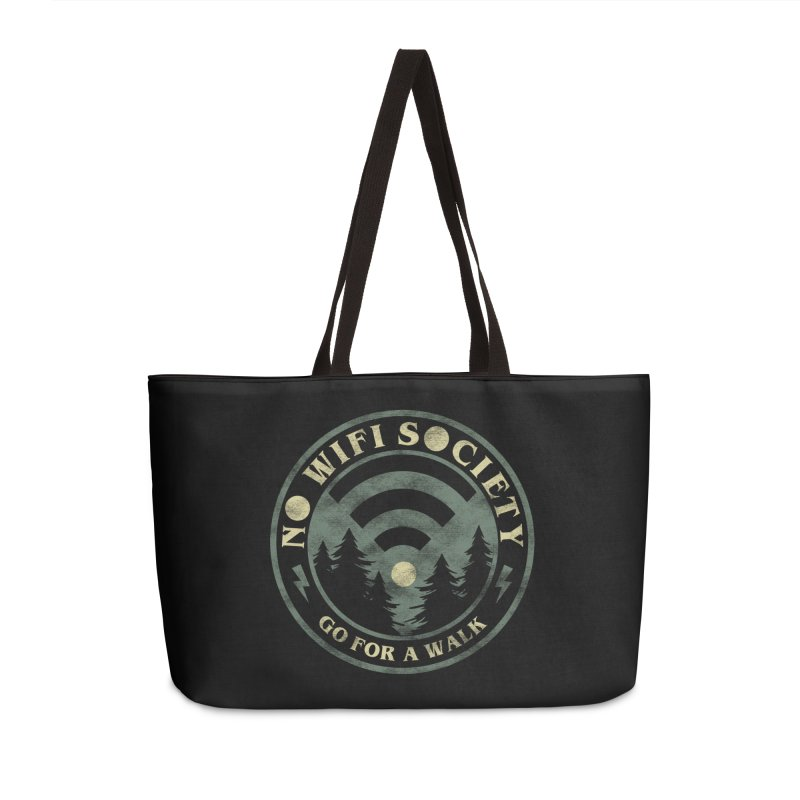 No Wifi Society Accessories Weekender Bag Bag by Daniel Stevens's Artist Shop