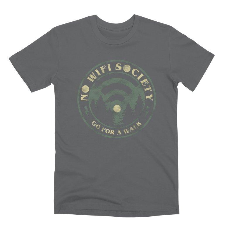 No Wifi Society Men's T-Shirt by Daniel Stevens's Artist Shop