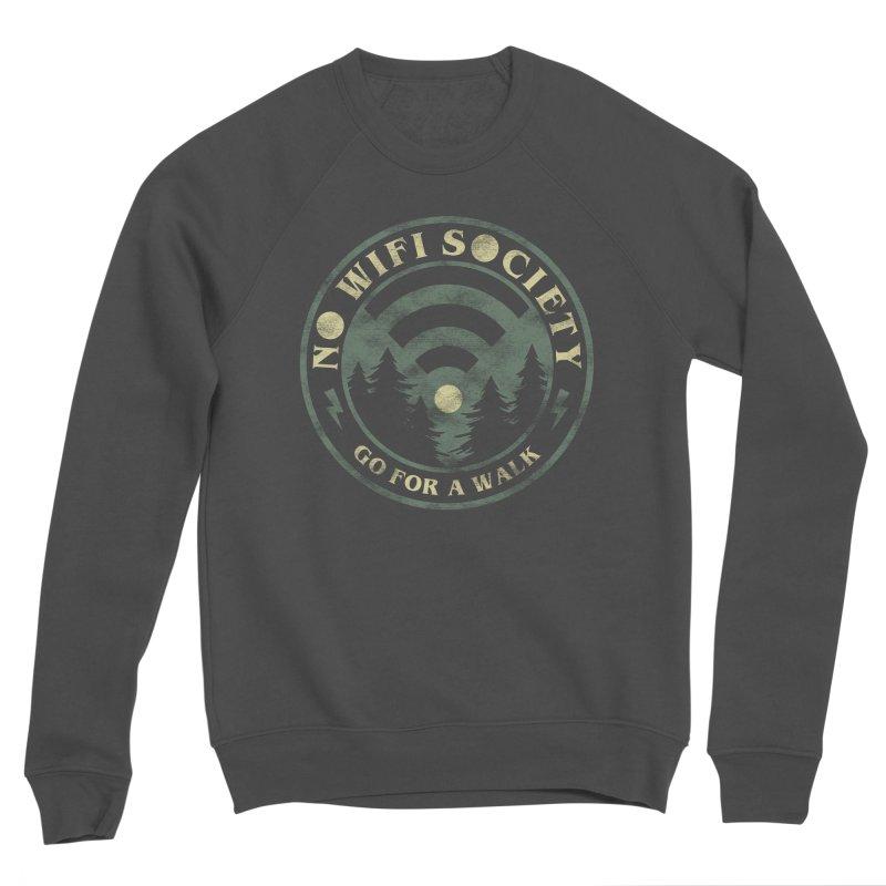 No Wifi Society Men's Sponge Fleece Sweatshirt by Daniel Stevens's Artist Shop