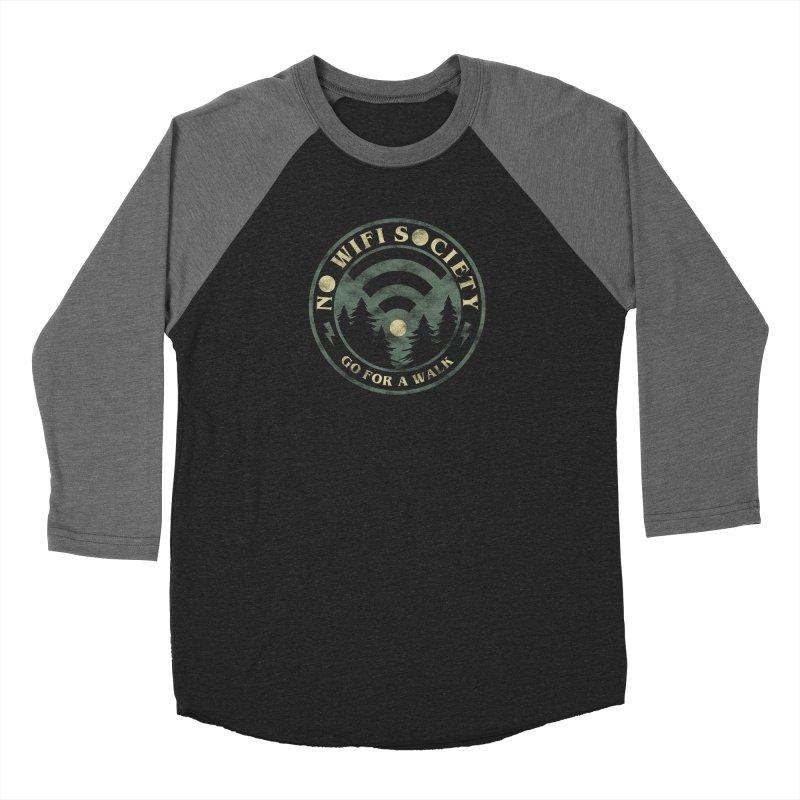 No Wifi Society Women's Longsleeve T-Shirt by Daniel Stevens's Artist Shop