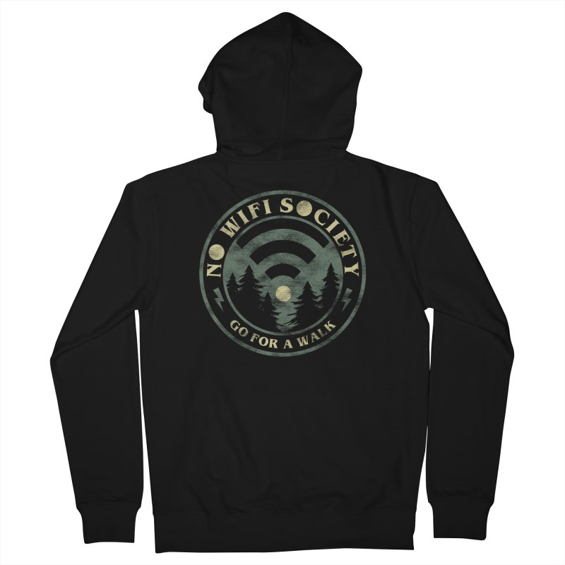 No Wifi Society Women's Zip-Up Hoody by Daniel Stevens's Artist Shop
