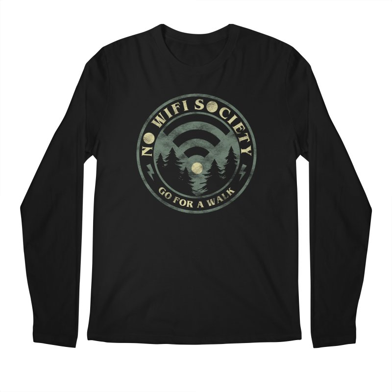 No Wifi Society Men's Regular Longsleeve T-Shirt by Daniel Stevens's Artist Shop