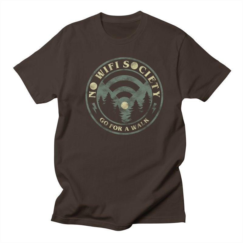 No Wifi Society Men's Regular T-Shirt by Daniel Stevens's Artist Shop