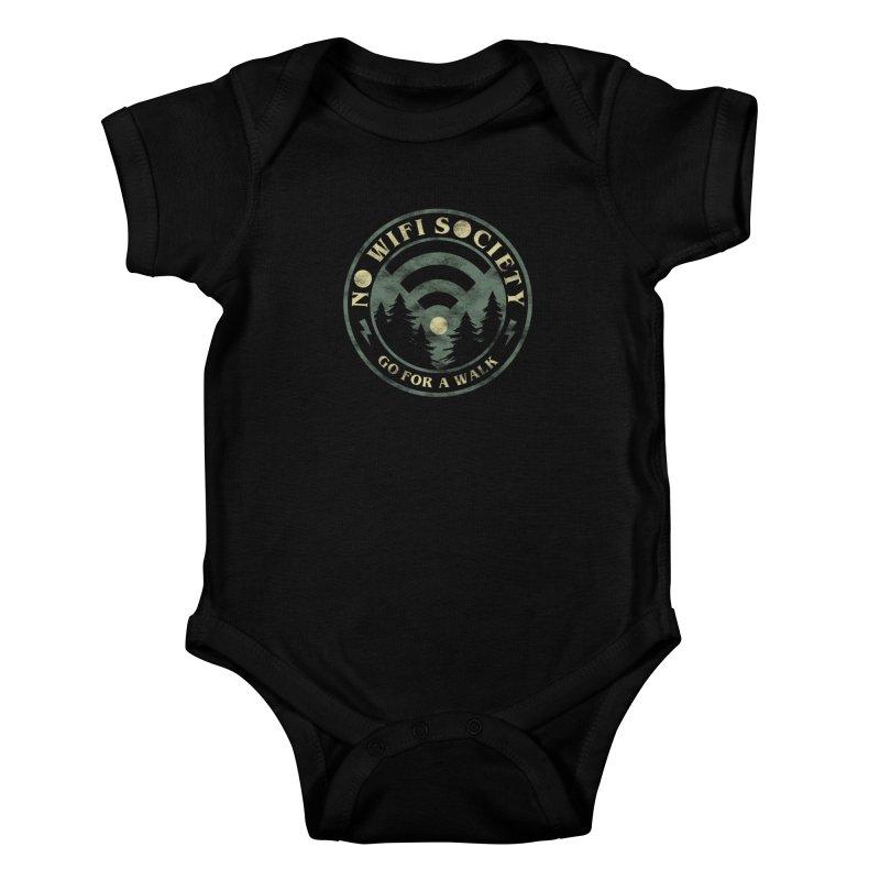 No Wifi Society Kids Baby Bodysuit by Daniel Stevens's Artist Shop