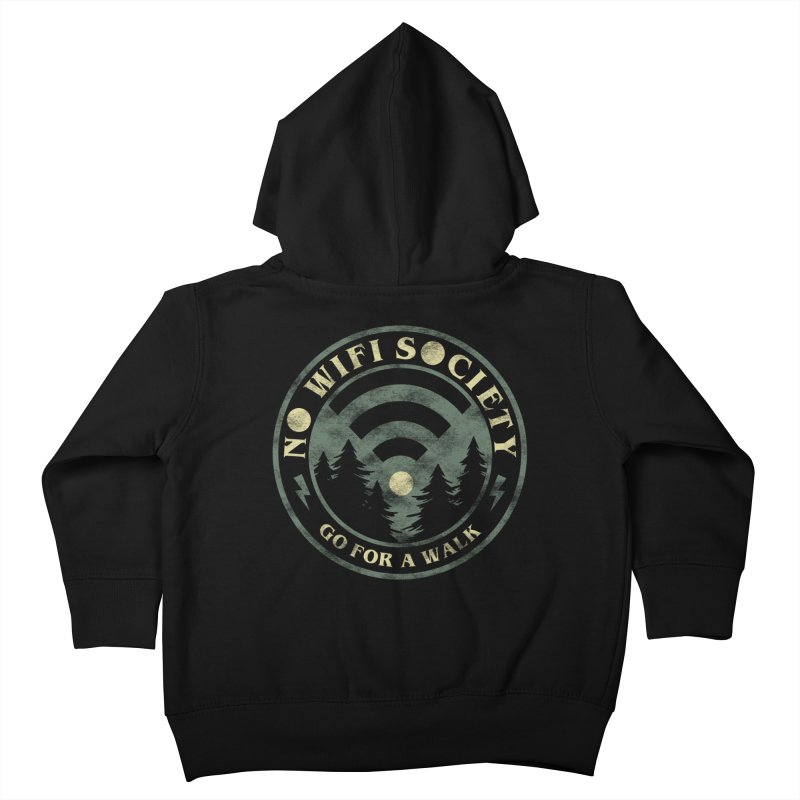 No Wifi Society Kids Toddler Zip-Up Hoody by Daniel Stevens's Artist Shop