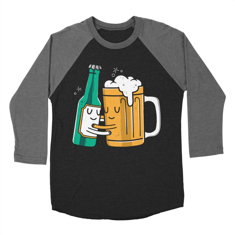 Beer Hug Women's Baseball Triblend T-Shirt by danielstevens's Artist Shop
