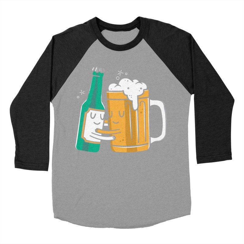 Beer Hug Men's Baseball Triblend T-Shirt by danielstevens's Artist Shop