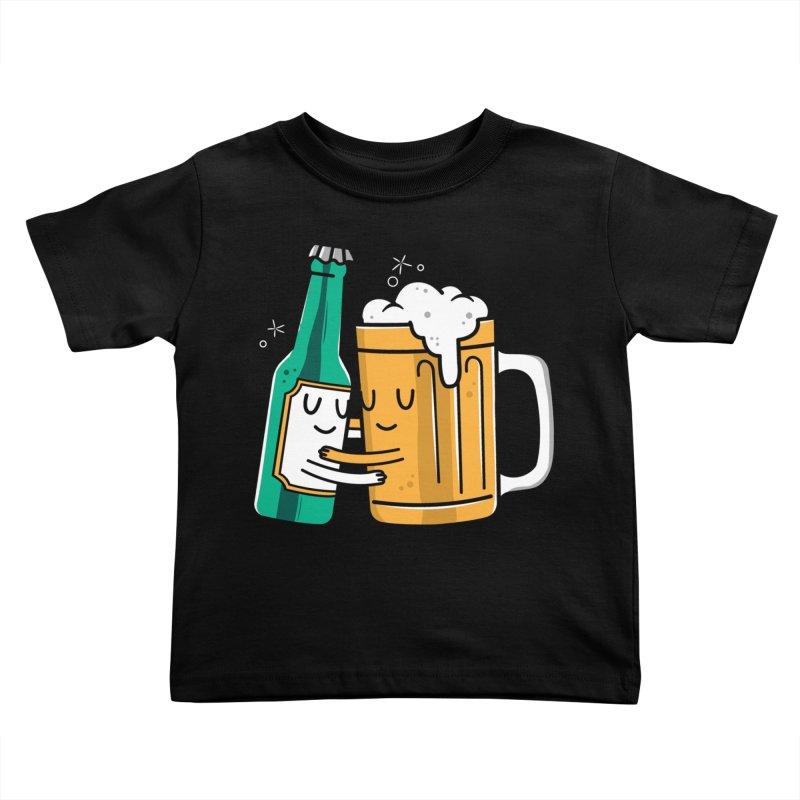Beer Hug Kids Toddler T-Shirt by danielstevens's Artist Shop