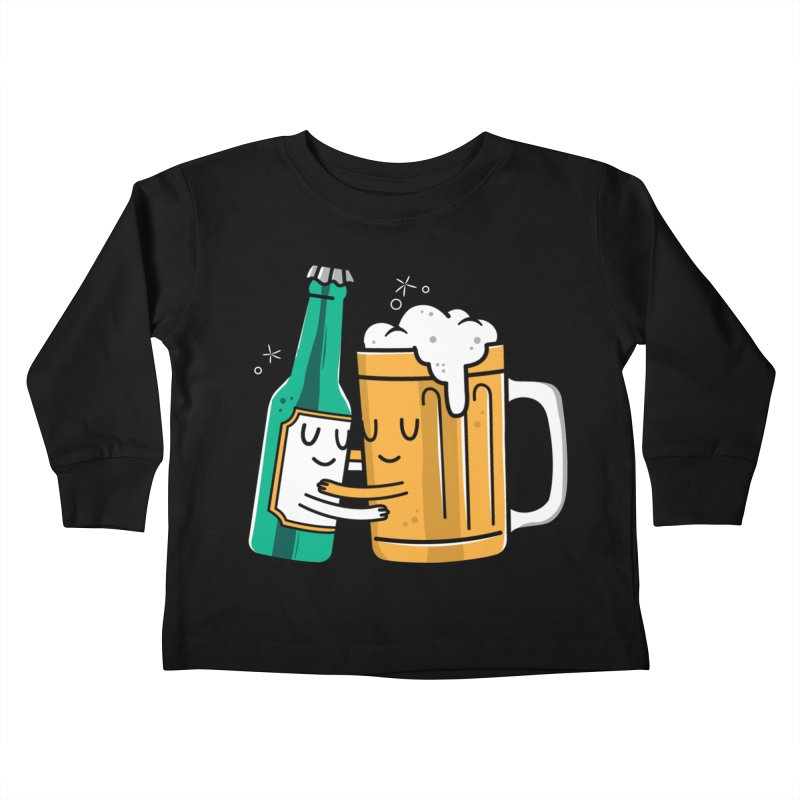 Beer Hug Kids Toddler Longsleeve T-Shirt by danielstevens's Artist Shop