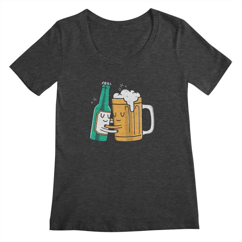 Beer Hug Women's Scoopneck by danielstevens's Artist Shop