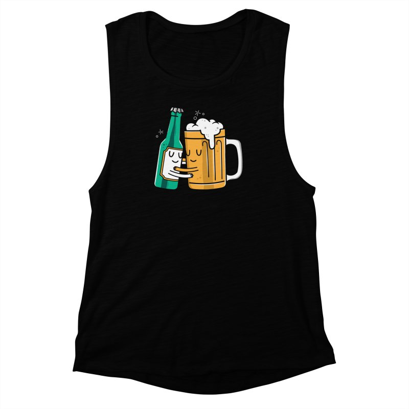 Beer Hug Women's Muscle Tank by danielstevens's Artist Shop