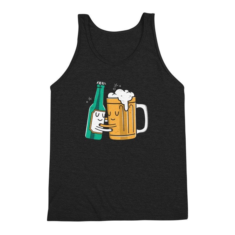 Beer Hug Men's Triblend Tank by danielstevens's Artist Shop