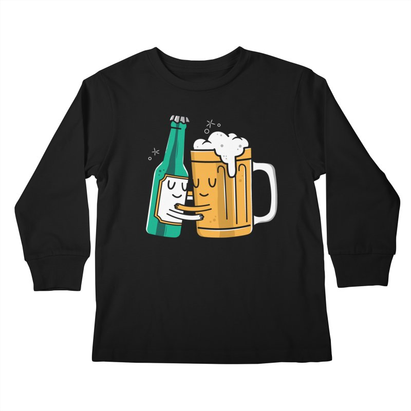 Beer Hug Kids Longsleeve T-Shirt by danielstevens's Artist Shop