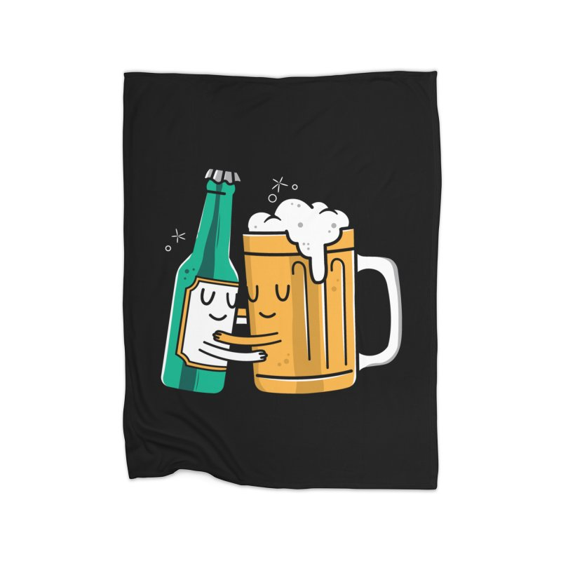 Beer Hug Home Blanket by danielstevens's Artist Shop