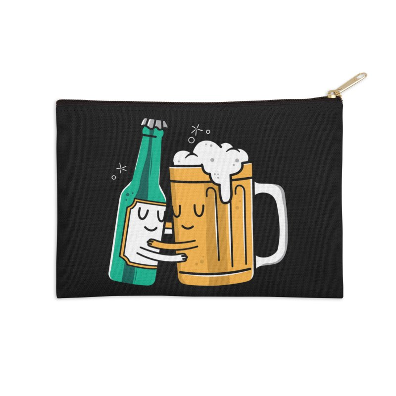 Beer Hug Accessories Zip Pouch by danielstevens's Artist Shop