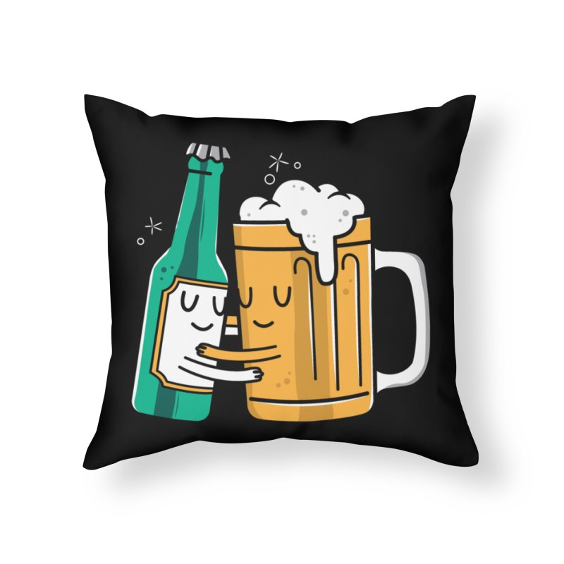 Beer Hug Home Throw Pillow by danielstevens's Artist Shop