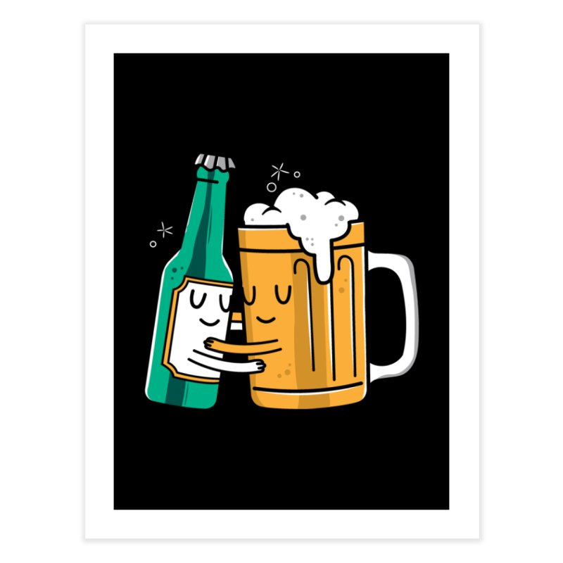 Beer Hug Home Fine Art Print by danielstevens's Artist Shop