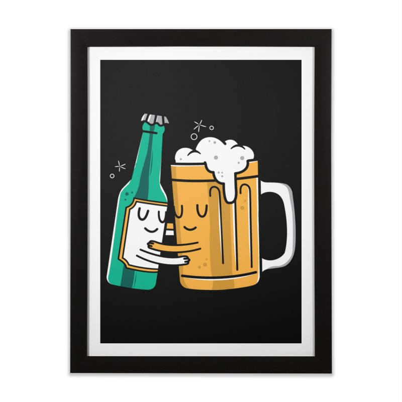 Beer Hug Home Framed Fine Art Print by danielstevens's Artist Shop