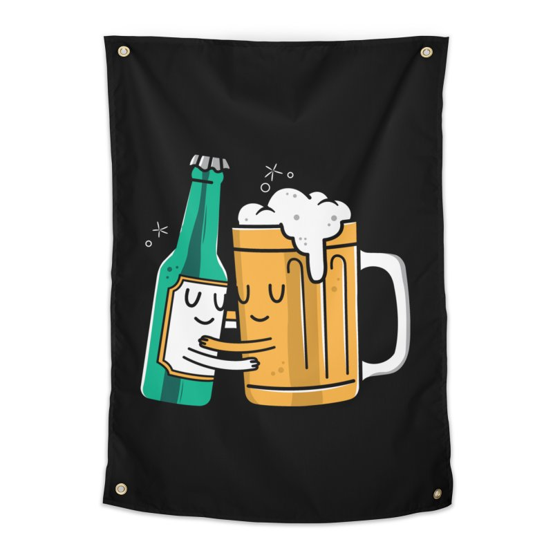 Beer Hug Home Tapestry by danielstevens's Artist Shop