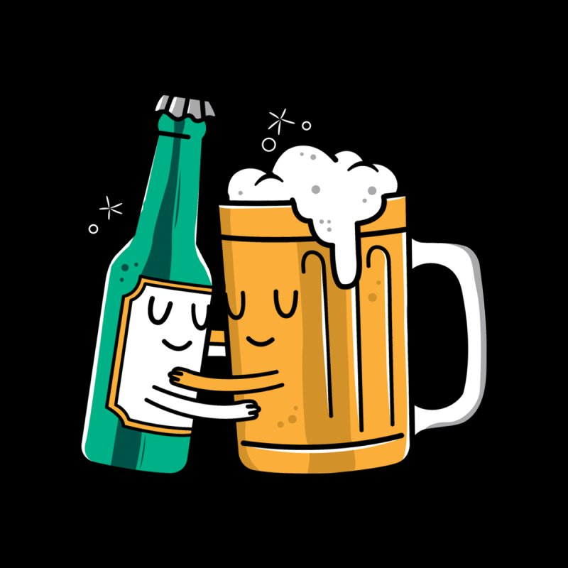 Beer Hug Home Fine Art Print by Daniel Stevens's Artist Shop