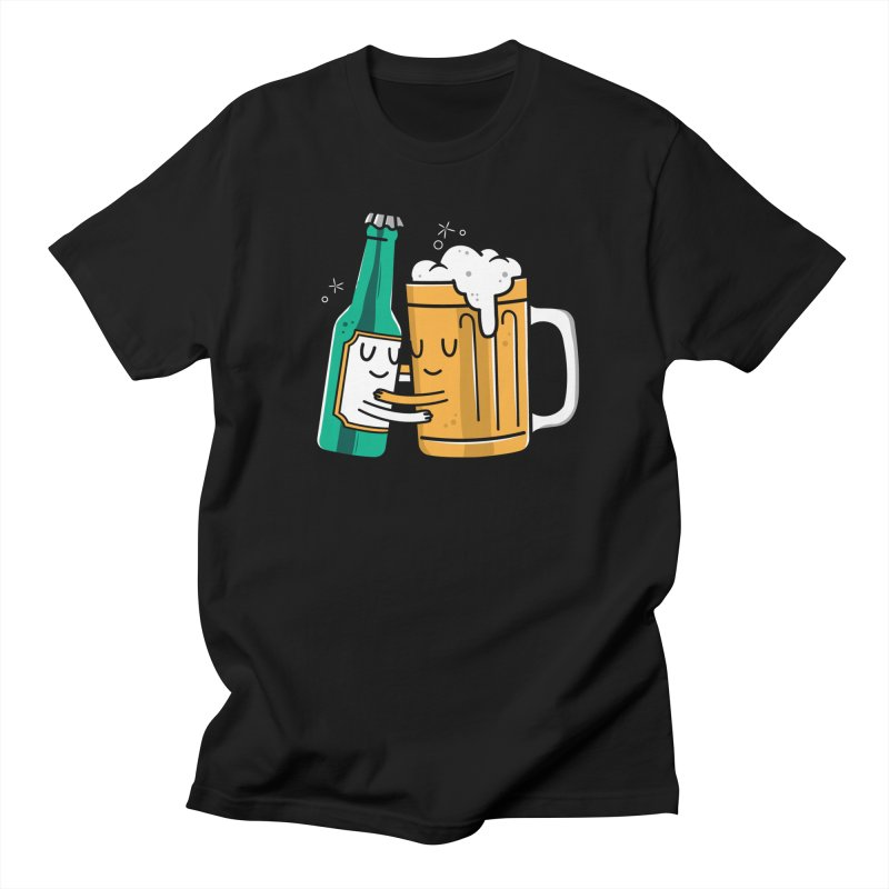 Beer Hug Men's T-Shirt by Daniel Stevens's Artist Shop