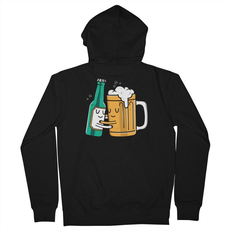 Beer Hug Women's Zip-Up Hoody by Daniel Stevens's Artist Shop