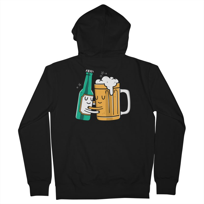 Beer Hug Women's Zip-Up Hoody by Daniel Stevens's Artist Shop