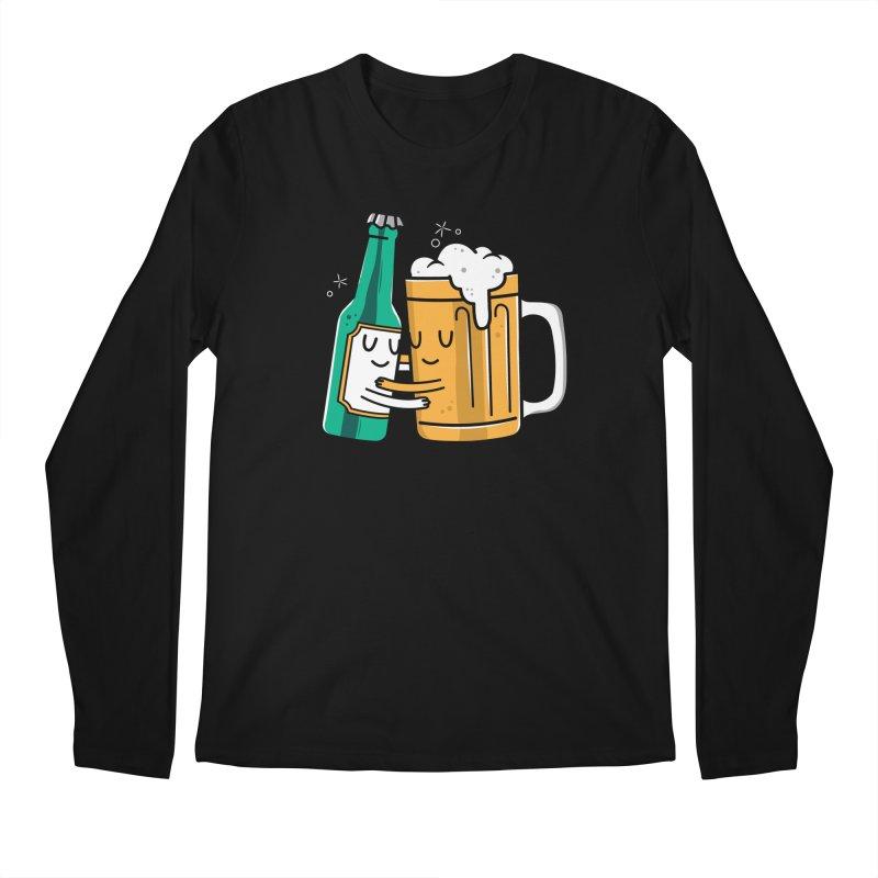 Beer Hug Men's Regular Longsleeve T-Shirt by Daniel Stevens's Artist Shop