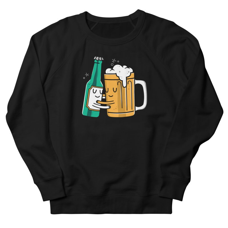 Beer Hug Men's French Terry Sweatshirt by Daniel Stevens's Artist Shop
