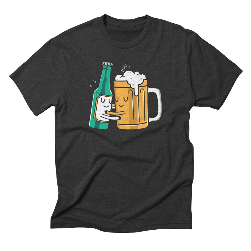 Beer Hug in Men's Triblend T-Shirt Heather Onyx by danielstevens's Artist Shop