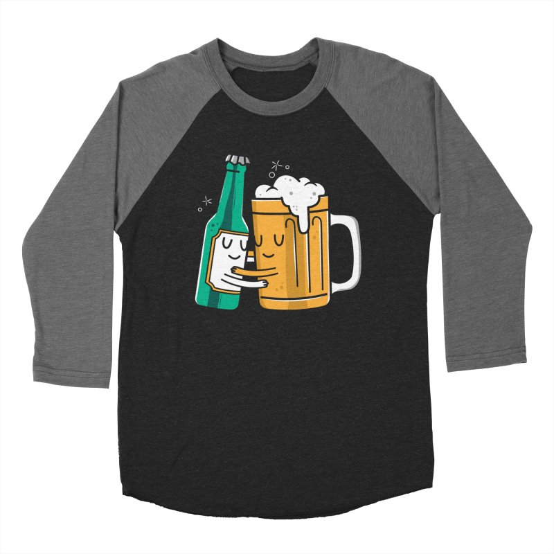 Beer Hug Women's Baseball Triblend Longsleeve T-Shirt by Daniel Stevens's Artist Shop