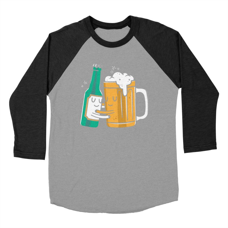 Beer Hug Women's Baseball Triblend Longsleeve T-Shirt by Daniel Stevens's Artist Shop