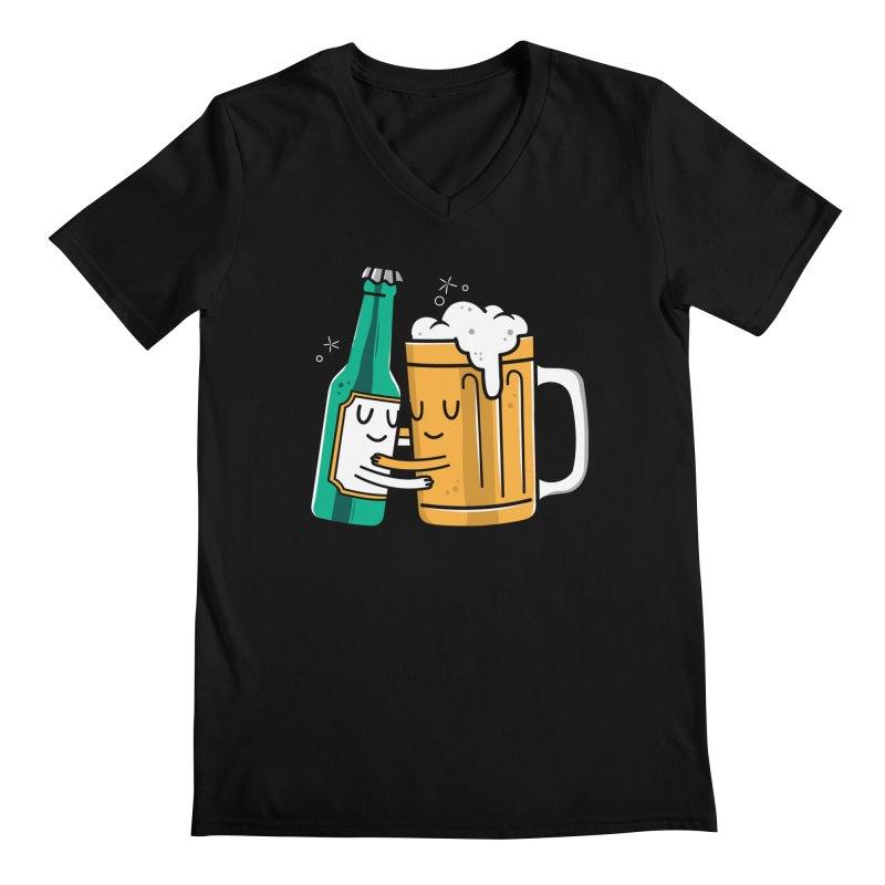 Beer Hug Men's V-Neck by danielstevens's Artist Shop