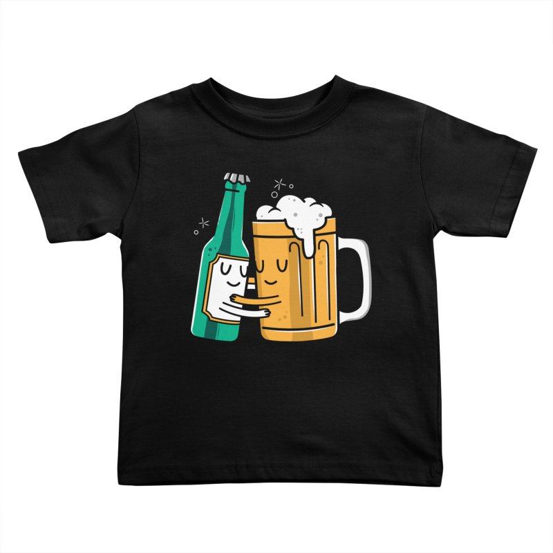 Beer Hug Kids Toddler T-Shirt by danielstevens's Artist Shop