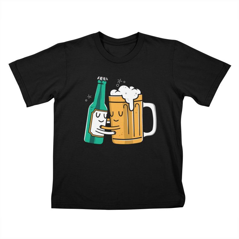Beer Hug Kids T-Shirt by Daniel Stevens's Artist Shop