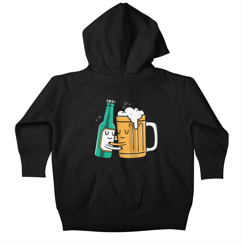 Beer Hug Kids Baby Zip-Up Hoody by danielstevens's Artist Shop